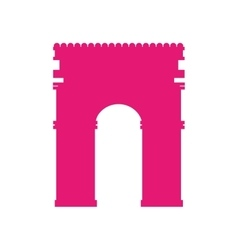 Arch triumph landmark icon vector