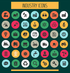Big industry icon set trendy line icons vector
