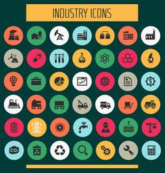 big industry icon set trendy line icons vector image
