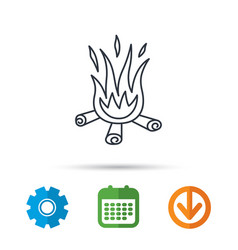 bonfire icon fire sign vector image
