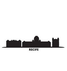 Brazil recife city skyline isolated vector