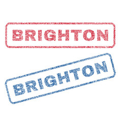 brighton textile stamps vector image