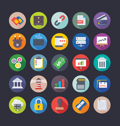 Business office management finance icons vector