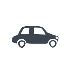 Car icon city transport sign vector
