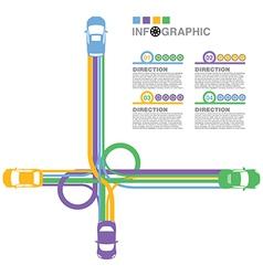 car road 2 vector image