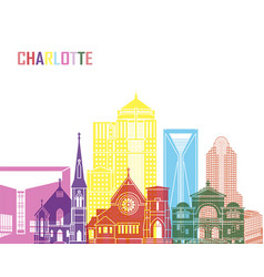 Charlotte v2 skyline pop vector