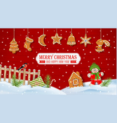 christmas scenery background vector image