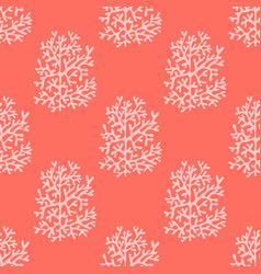 Corals bright red seamless pattern vector