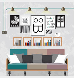 Decorate a living room vector