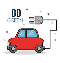 eco car green energy design vector image