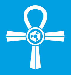 egypt ankh symbol icon white vector image