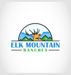 Elk mountain ranches agro logo vector