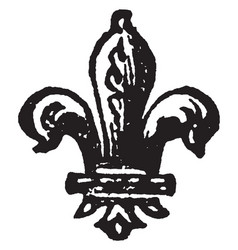 Fleur-de-lis is a heraldic charge borne by vector