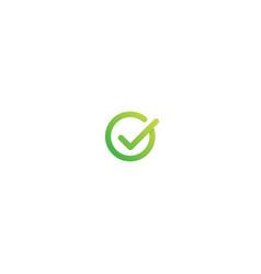 g letter logo design check mark ok symbol icon vector image