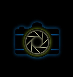 Glowing camera vector image
