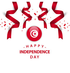 Happy tunisia independence day template design vector