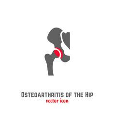 Hip osteoarthritis icon vector