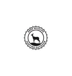 Hunting deer logo - outdoor design vector