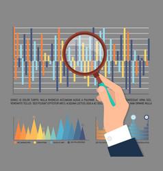Infographic statistics investigation worker vector