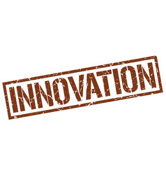 Innovation stamp vector
