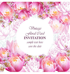 invitation or greeting card with water lily vector image vector image