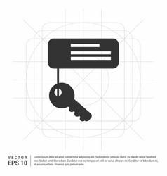 Key chain icon vector