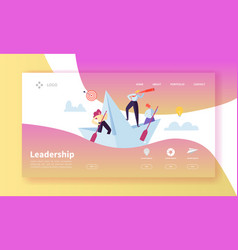 leadership concept landing page template website vector image