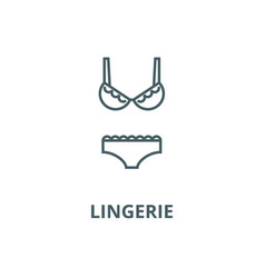 lingeriebra and pantie line icon linear vector image