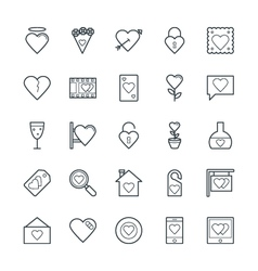 Love and Romance Cool Icons 2 vector