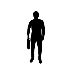 man icon with suitcase vector image