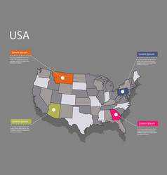 Map usa concept vector