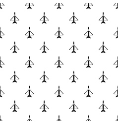 Military aircraft pattern simple style vector