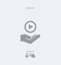 Multimedia player - minimal modern icon vector