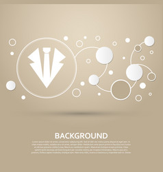necktie icon on a brown background with elegant vector image