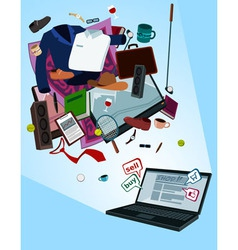 Online shop for men vector
