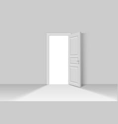 open realistic door vector image