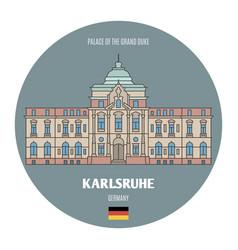 Palace grand duke in karlsruhe germany vector
