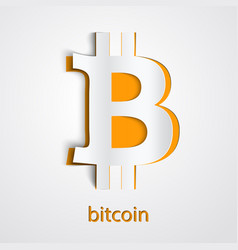 paper art of digital currency bitcoin vector image