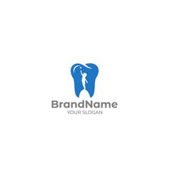 Pediatric dentist logo design vector