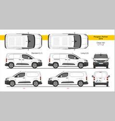 Peugeot partner cargo van l1 l2 2018-present vector