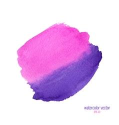 Pink purple watercolor circle vector