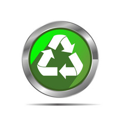 Recycle icon button vector