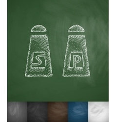 Salt and pepper icon Hand drawn vector