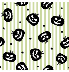 seamless pattern with halloween black pumpkins on vector image