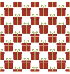 Seamless pattern with red gift boxes Christmas vector