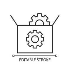 seo packages linear icon vector image