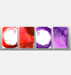 set background stain watercolor bright vector image