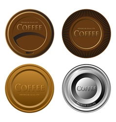 Set of different cupmats or labels for coffee vector