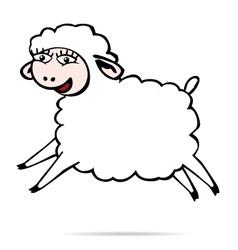 Sheep jump vector