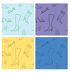 Shoes seamless vector